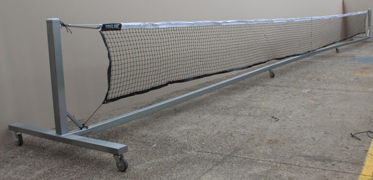 portable tennis posts and net